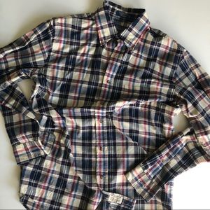 Pendleton Madras tartan plaid button down shirt